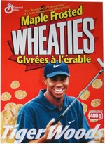 Tiger Woods Maple Wheaties Box