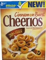 Cinnamon Burst Cheerios Box - Front