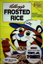 1977 Frosted Rice Cereal Box