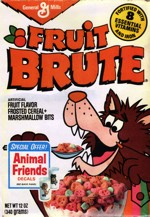 1980 Fruit Brute Cereal Box