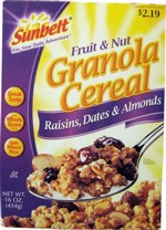 2008 Fruit And Nut Granola - Front