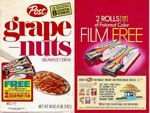 Grape-Nuts Fotomat Film Box
