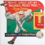 Grape-Nuts Dizzy Dean Flyer Stand