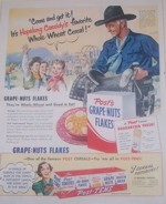 Hopalong Cassidy Grape-Nuts Flakes
