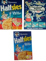 Halfsies Cereal Boxes