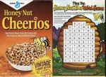 Honey Nut Cheerios Word Game Box