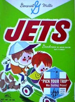 Jets Cereal Box - Pick A Trip