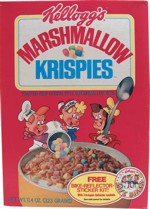 Marshmallow Krispies Cereal Box