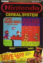 Nintendo Cereal Box