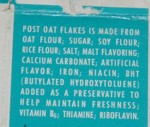 Post Oat Flakes ingredients
