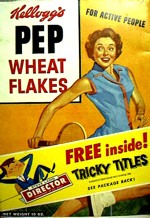 Pep Wheat Flakes Box (Tricky Titles)