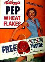 Pep Wheat Flakes Box (Puzz-L-Ring)