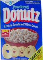 Powdered Donutz Cereal Box