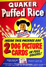 Quaker Puffed Rice Box - Dog Cards