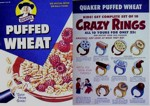 Puffed Wheat Crazy Rings Box