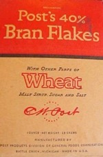 Very Old Box Of 40% Bran Flakes