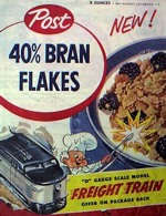 Post 40% Bran Flakes Cereal Box