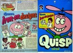 Quisp Cereal Box - Iron-On Designs