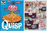 Adventures Of Quisp Cereal Box