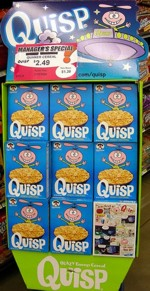 Quisp Cereal Store Display