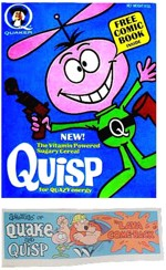 Quisp Cereal Box And Comic