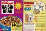 Raisin Bran Basketball Game Box