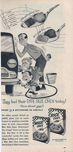 1954 Rice Chex and Wheat Chex ad