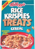 Early Rice Krispies Treats Cereal Box