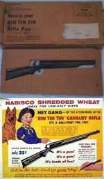 Rin Tin Tin Shredded Wheat Rifle Pen