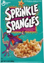 1994 Sprinkle Spangles Cereal Box