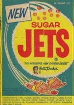 Vintage Sugar Jets Cereal Box