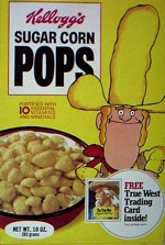Late 1970's Sugar Corn Pops Cereal Box