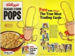Sugar Corn Pops True West Trading Cards