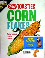Post Toasties Corn Flakes - Rory Racoon Toy