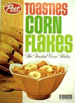 Classic Post Toasties Corn Flakes Box