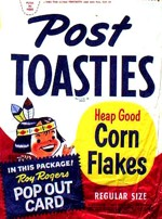 1950's Post Toasties Corn Flakes Box