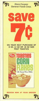 Old Post Toasties Coupon