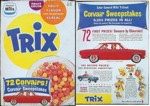 1960 Trix Cereal Box - Corvair Sweepstakes