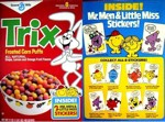 Trix Mr. Men Stickers Box
