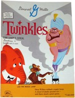 1960 Twinkles Cereal Box - Magic Lamp