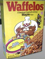 Wacky Packages Waffelos Cereal Box