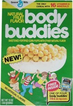 Body Buddies Cereal Box - New!