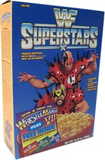WWF Superstars Cereal Box