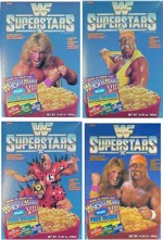 Four WWF Superstars Cereal Boxes