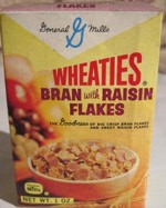 Wheaties Bran With Raisin Flakes Box