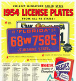1954 Wheaties License Plates Box