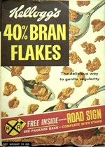 Kellogg's 40% Bran Flakes Box - Road Sign
