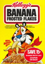 Banana Frosted Flakes Box