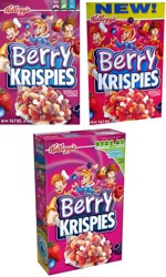 Three Berry Krispies Boxes