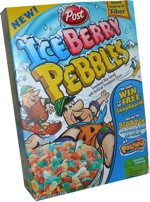 2006 IceBerry Pebbles Cereal Box
